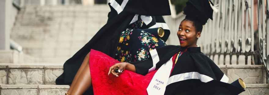 Celebrating moment as graduate