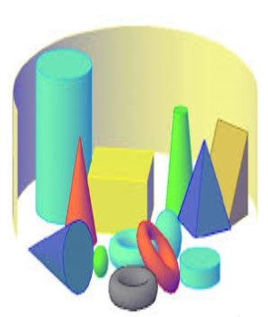 Shapes: Different kinds of shape shown in 3D