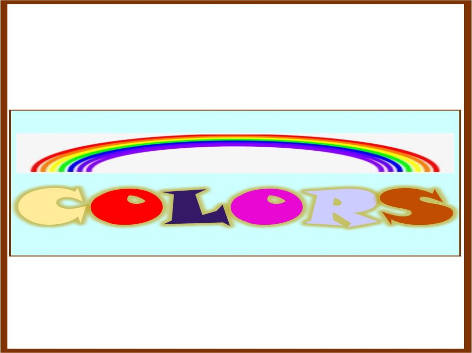 Colors: Kinds of colors illustration