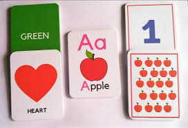 Flash card displaying Color, Shape, Letter, Number and Object