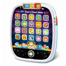 Touch and teach tablet for preschool