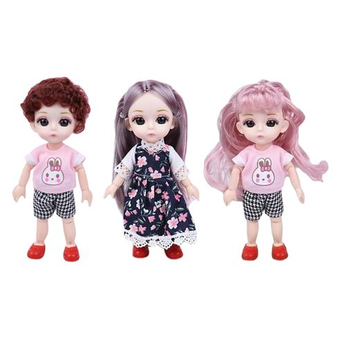 Moveable 3 Pieces 14 Joints BJD Dolls Girl Gift Toys