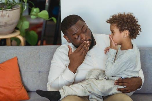 How to discipline a preschooler? A father administering proper discipline on a preschooler
